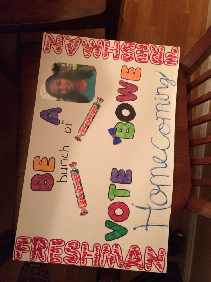 freshman homecoming campaign poster ideas pinterest. Black Bedroom Furniture Sets. Home Design Ideas