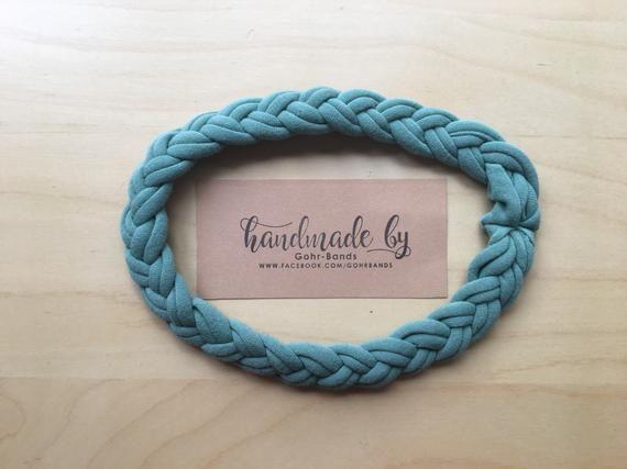 Braided  Headband, Braid Headband, Women's Headband, Head Wrap, Thin Headband, Girl headbands, green   – Products