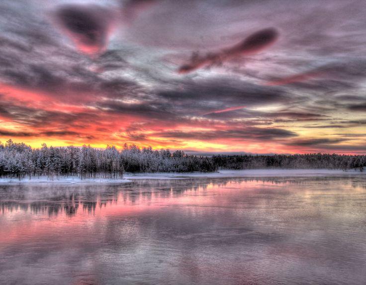 Paysage de la Laponie finlandaise #Laponie #Finlande #Hiver