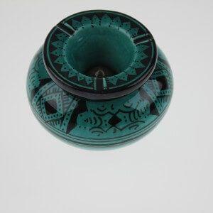Cendrier marocain vert turquoise