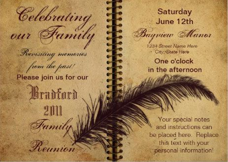 21 best images about Family Reunion Invitations – Free Printable Family Reunion Invitations