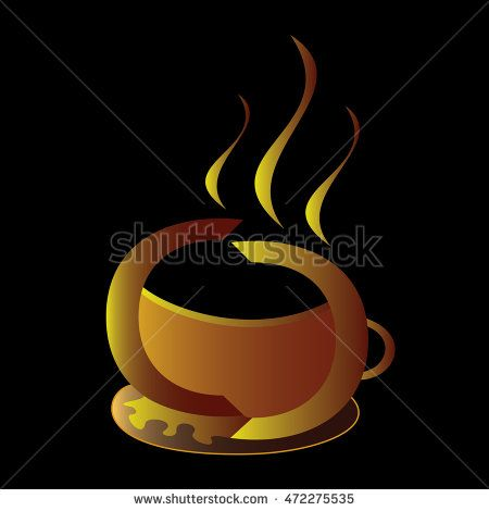 Elegant #golden #coffee #cup made of two C letters