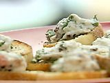 Mediterranean Bruschetta Recipe by Giada - with ricotta, tomatoes, and olives