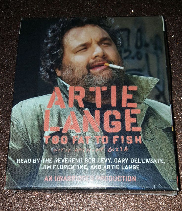 Artie Lange's Too Fat To Fish CD Audio Book still sealed