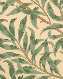 Tapet Willow Boughs Green från William Morris & Co