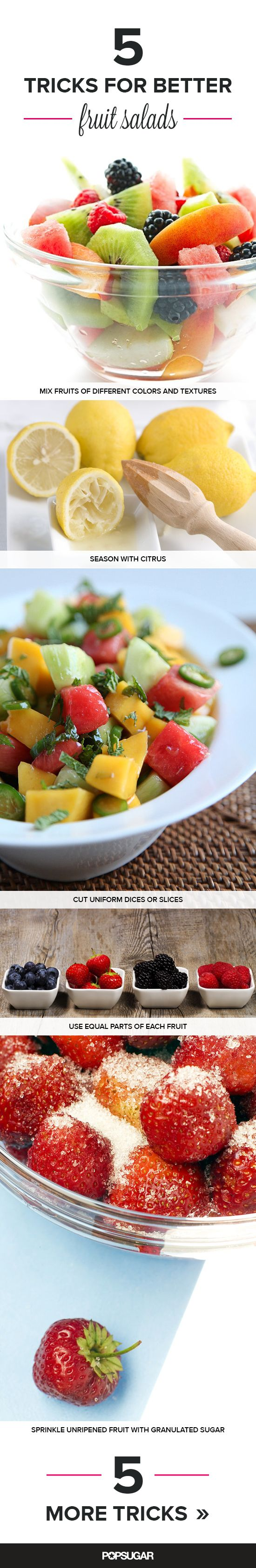 Tricks to making the best fruit salads all year long.