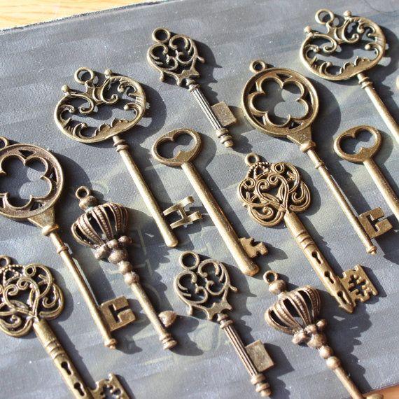 18 estilo vintage colección llave esqueleto por PineappleSupply