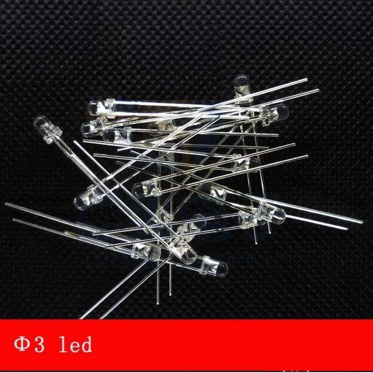 1000pcs/lot  3MM LED Lamp super bright white hair and blue light blue LED light-emitting diode Bai Falan long legs