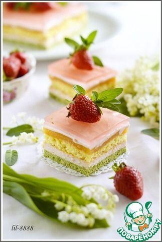 Торт Антреме Мята, клубника, апельсин ингредиенты