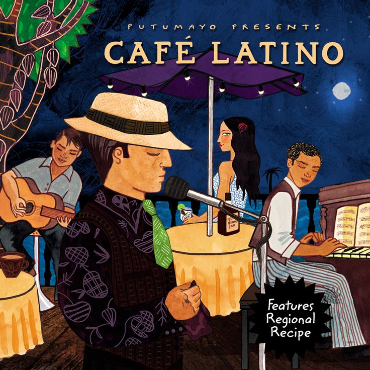 Putumayo Presents: Experience Latin cafe culture with these exceptional singer-songwriters from Mexico City to Buenos Aires.  Features a Latin dessert recipe.
