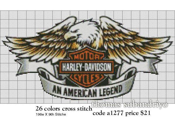 Harley-Davidson Cross Stitch Patterns Free