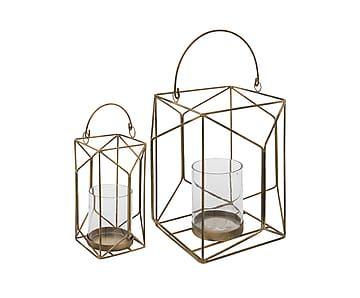Set van 2 lantaarns Erie, brons