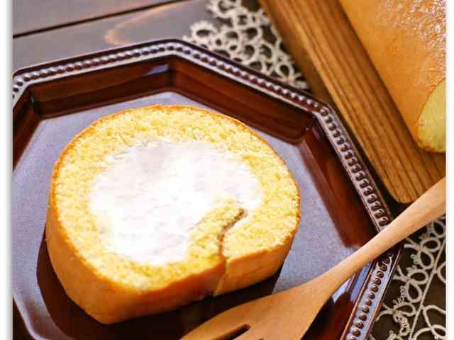 生地材料3つ♬ふわふわ簡単ロールケーキ♡の画像