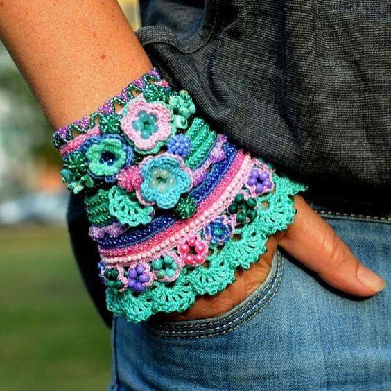 Brazalete a Crochet