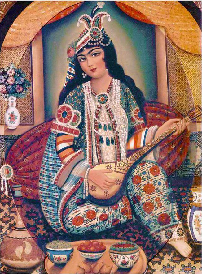 ::::♔❥♡ ♤ ♤ ✿⊱╮☼ ☾ PINTEREST.COM christiancross ☀❤ قطـﮧ ⁂ ⦿ ⥾ ⦿ ⁂  ❤U •♥•*⦿[†] ::::Qajar painting.