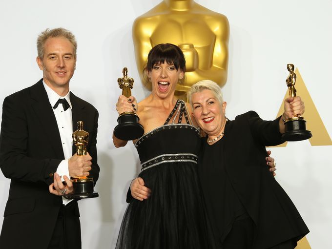 From left, Damian Martin, Elka Wardega and Lesley Vanderwalt