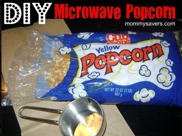 DIY Microwave Popcorn DIY Microwave Popcorn Brown paper lunch bag Good quality