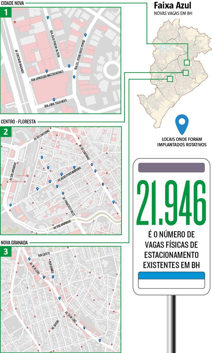 De janeiro a agosto deste ano, 625 vagas físicas foram criadas na cidade dentro do sistema Faixa Azul, conforme dados da BHTrans. Um montante 15 vezes maior do que o registrado em todo 2016 (11/08/2017) #Estacionamento #Rotativo #EstacionamentoRotativo #BH #BeloHorizonte #Aumento #FaixaAzul #Infográfico #Infografia #HojeEmDia