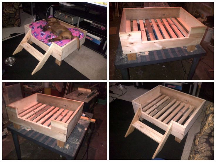 doggy pallet bed made from repurposed pallet wood pallet ideas nice dog beds and happy. Black Bedroom Furniture Sets. Home Design Ideas