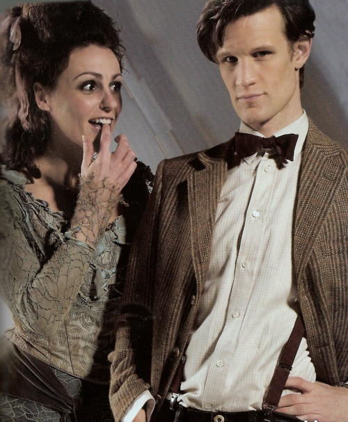 """The Doctor and his TARDIS """"The Doctor's Wife""""   She looks like she wants to eat him up! -- JK"""