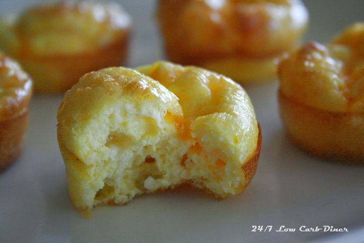 Three Cheese Breakfast Puffs   4 eggs 1/4 cup cottage cheese 1/4 cup parmesan cheese 2 oz shredded sharp cheddar cheese