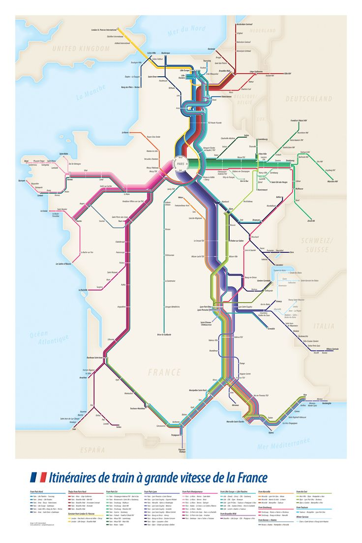 High Speed Train TGV Routes Of France HighSpeed Trains - High speed rail us map