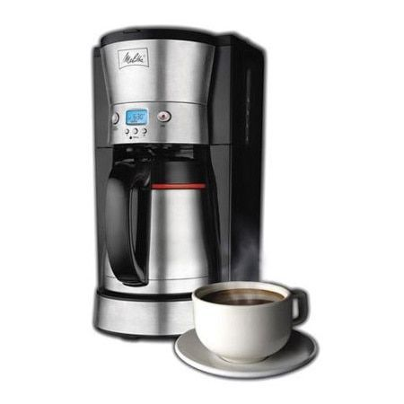 Melitta Black/ Stainless Steel 10-cup Thermal Coffee Maker (Refurbished) (Black and Silver)