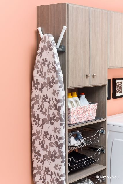 Save On Space In Your Laundry Area By Hanging Your Ironing