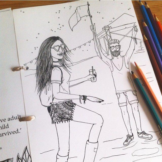 If you already miss summer festivals...color your memories. #coachella #islandofcolors #coloring #coloringbook #festival #festivals #design #colouringbook #colouring #hippie #boho #bohochic #colorpencil #etsy #handmade #drawing #draw #etsyshop #girl #doodle #bohochic #giftforgirls #adultcoloring #coloringforadults #summer #art #mandalas #kifesto #kleuren #felnőttszínező #etsy #musicfestival
