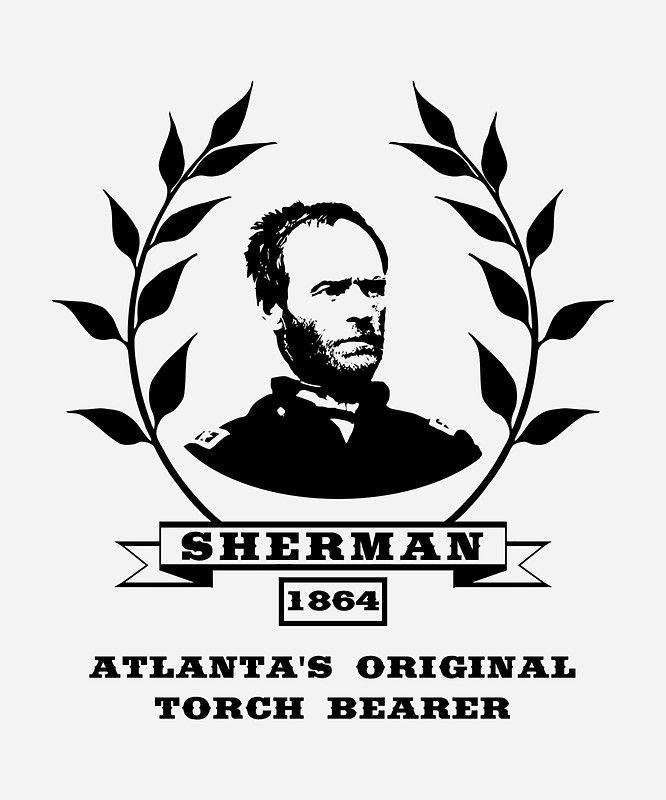 General sherman atlantas original torch bearer sticker by warishellstore