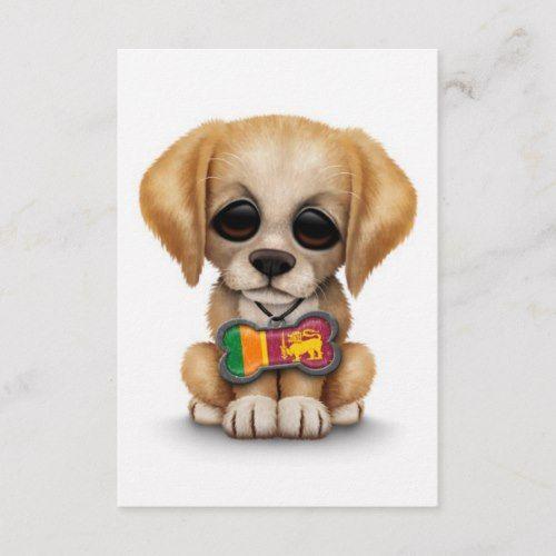 Cute Puppy With Sri Lankan Flag Dog Tag White Zazzle Com Cute