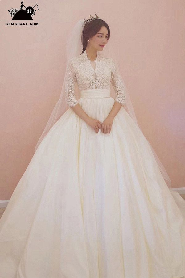 Only 228 99 Ball Gown Wedding Dresses Unique Lace Empire 3 4
