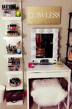 Find This Pin And More On Makeup Organization A Small Vanity