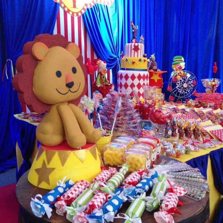 Decorations at a circus birthday party! See more party planning ideas at CatchMyParty.com!