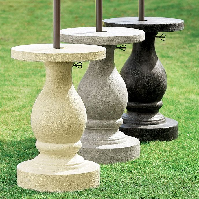 Baluster Umbrella Stand Ballard Designs In 2020 Patio Umbrella Stand Outdoor Umbrella Stand Umbrella Stand