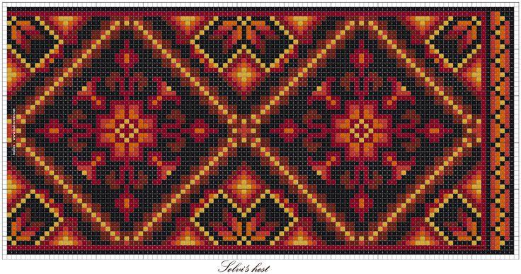 Sølvi's; Ett mønster fire fargekombinasjoner.   Vevstua Bull-Sveen