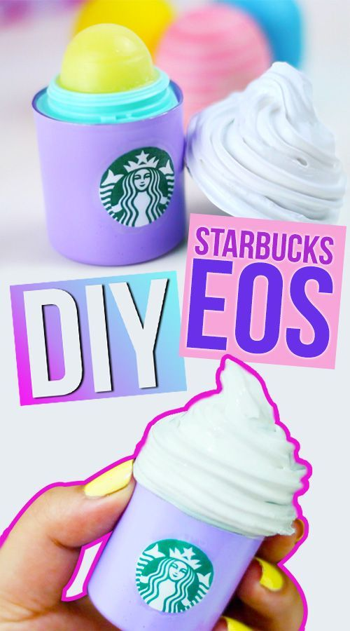 DIY STARBUCKS EOS! Make your Own Starbucks Lip Balm! Transform your OLD EOS Lip Balm into a Starbucks Drink! DIY EOS!!  This is really super easy to make, you only going to need white silicone and a lid of any container! Click here to watch the super easy and short tutorial: https://youtu.be/81MiV5Y2Af4