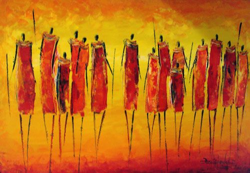"David Ndambuki, ""The Maasai,"" oil on canvas, 2006. Courtesy Real African Art Gallery, Zanzibar"