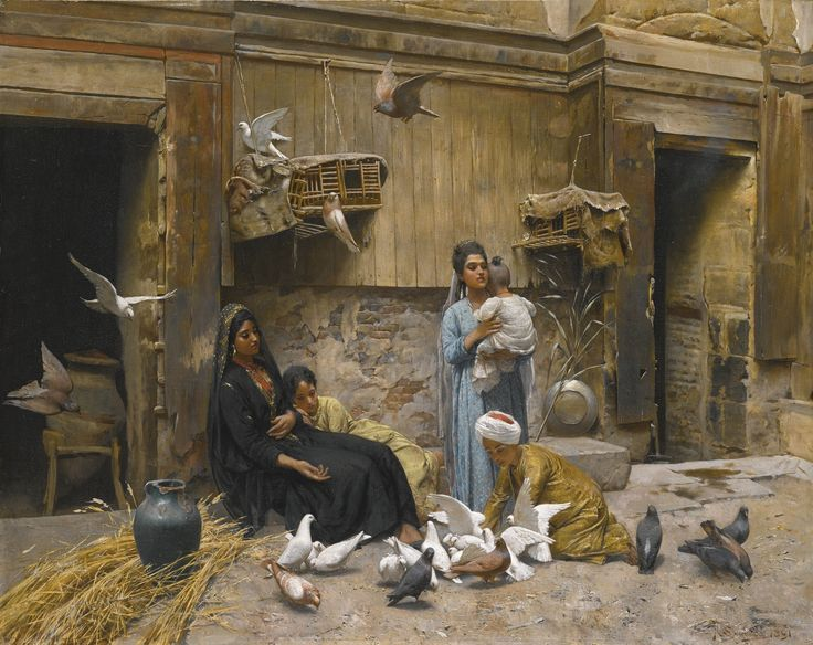 swoboda, r. a cairene courtyard | animals | sotheby's l16100lot8qnqfen