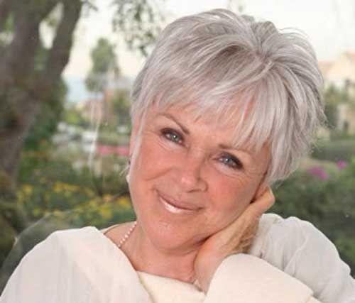 Short Hairdo for Women Over 70