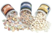 Aquastone Stone by Stone Mosaic Tiles - 3/8 Inch - 11 Lbs - 12-Color Assortment