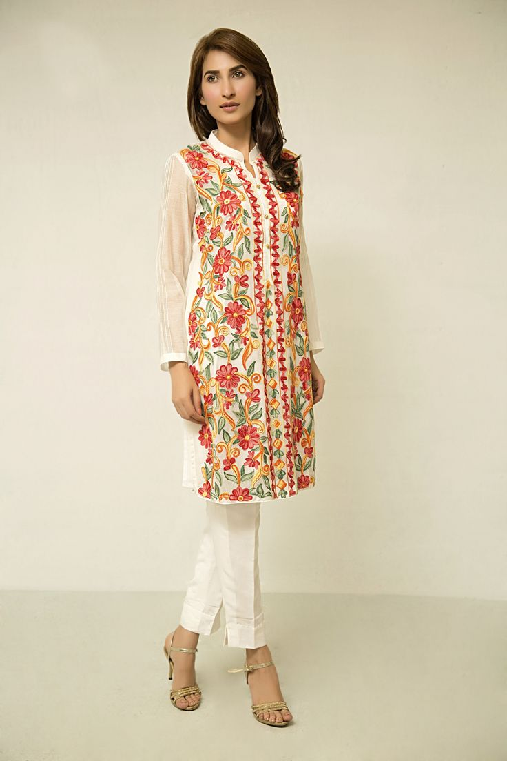 White dress design 2017 - Pakistani Designer Dresses Lowest Prices Fully Embroidered Dress By Zainab Hasan Eid Collection 2015