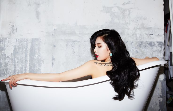 Hyuna red hairstyle