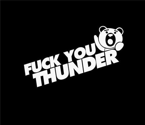 Thunder buddy fck you thunder ii jdm decals http customstickershop
