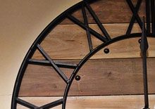 Roman numerals in wood and iron
