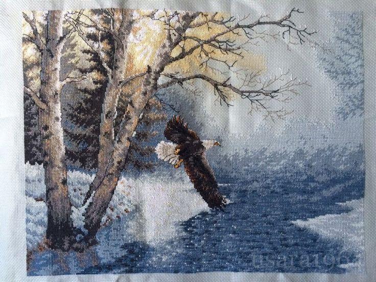 Схема вышивки крестом от Дименшенс Утренний полёт Dimensions 35267 Morning Flight   ✅Забираем тут http://stitchlike.ru/8kph#stitchlike_dimensions #вышивка_крестом #птицы