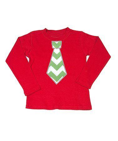 Love this Red Chevron Tie Tee - Infant, Toddler & Boys on #zulily! #zulilyfinds