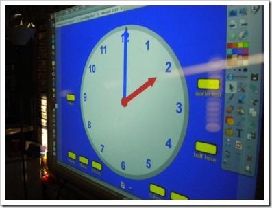 Interactive Clock for the IWB / Rellotge interactiu per PDI