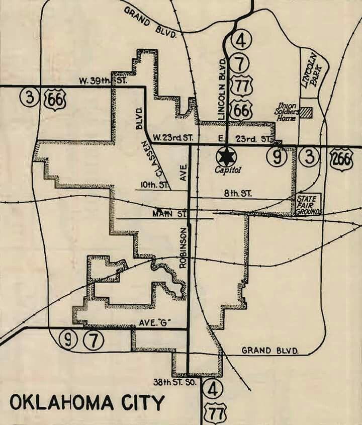 1929 OKC Map