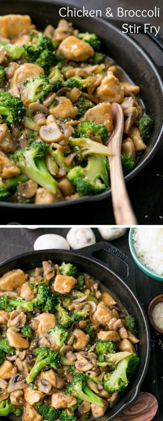 Chicken Broccoli And Mushroom Stir Fry  Cooking With A -1207